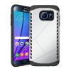 Samsung Galaxy S7 Edge SM-G935, Műanyag hátlap védőtok, Defender, ütésálló, ezüst/fekete
