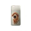Samsung Galaxy S7 Edge SM-G935, TPU szilikon tok, ultravékony, barna uszkár kölyök minta, átlátszó