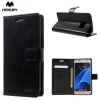 Samsung Galaxy S7 SM-G930, Oldalra nyíló tok, stand, Mercury Blue Moon, fekete