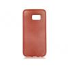 Samsung Galaxy S7 SM-G930, TPU szilikon tok, Jelly Brush, szálcsiszolt mintázat, piros