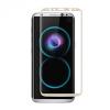 Samsung Galaxy S8 Plus SM-G955, Kijelzővédő fólia, ütésálló fólia (az íves részre is!), Tempered Glass (edzett üveg), 3D Full Cover, arany