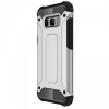 Samsung Galaxy S8 Plus SM-G955, Műanyag hátlap védőtok, Defender, fémhatású, ezüst