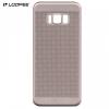 Samsung Galaxy S8 Plus SM-G955, Műanyag hátlap védőtok, Loopee, lyukacsos minta, arany