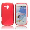 Samsung Galaxy S Duos S7562 / Galaxy Trend S7560 / Trend Plus S7580, TPU szilikon tok, S-Line, piros