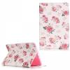 Samsung Galaxy Tab E 9.6 SM-T560 / T561, mappa tok, rózsaminta, fehér