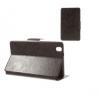 Samsung Galaxy Tab Pro 8.4 SM-T320, bőrtok, mappa tok, barna, bankkártya tartóval