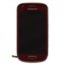 Samsung Gyári Samsung i8190 S3 mini LCD modul vörös színben mobiltelefon kellék