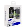 Samsung hálózati töltő adapter + microUSB kábel, 5V/2A, EP-TA12EBE, fekete