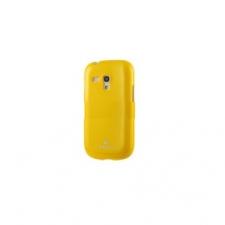 Samsung S3 mini i8190, TPU szilikon tok, sárga tok és táska