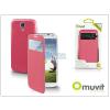 Samsung Samsung i9500 Galaxy S4 S View Cover flipes hátlap on/off funkcióval - Muvit Window Folio - pink
