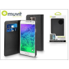 Samsung Samsung SM-G850 Galaxy Alpha flipes tok kártyatartóval - Muvit Wallet Folio - black