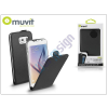Samsung Samsung SM-G920 Galaxy S6 flipes tok képernyővédő fóliával - Muvit Slim Flip - black
