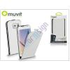Samsung Samsung SM-G920 Galaxy S6 flipes tok képernyővédő fóliával - Muvit Slim Flip - white