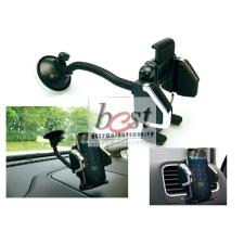 SANDBERG Telefon tartó Autós - In Car Universal Mobile Holder (fekete; állítható kar; szélvédőre helyezhető; univerzális tablet tok