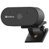 SANDBERG USB Webcam Wide Angle Full HD Webkamera Black