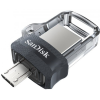 Sandisk Ultra Dual Drive m3.0 64GB USB 3.0, microUSB Fekete-Ezüst