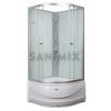 Sanimix 22.1762B 90x90x200cm íves mélytálcás zuhanykabin