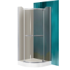 Sanipro Denver 90x90 cm-es íves zuhanykabin nyílóajtóval