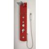 Sanotechnik Cikkszám: DG9039 Zanzibar piros üveg zuhanypanel