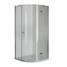 Sanotechnik Simplyflex íves 1 nyílóajtós sarokkabin, kockás üveggel kád, zuhanykabin