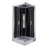 Sanotechnik Trend 2 szögletes hidromasszázs zuhanykabin elektronikával - Quick Line változatban