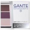 Sante szemhéjpúder trió aubergine 02