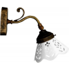 Sapho BARI fali lámpa, kerámia búra, max:40W, 230V, 138x180x210mm, bronz (MC811)