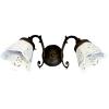 Sapho BRINDISI fali lámpa, izzó nélkül, kerámia búra, max:40W, 230V, 375x140x230mm, bronz (MC052)