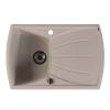 Sapho Gránit mosogató csepegtető tálcával, 77x51cm, bézs (GR1102)