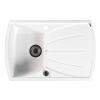 Sapho Gránit mosogató csepegtető tálcával, 77x51cm,fehér (GR1101)