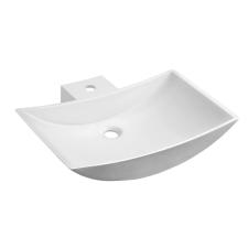 Sapho QUINTET pultrahelyezhető kerámiamosdó, 60x15x45cm, matt fehér (VK130) fürdőszoba kiegészítő
