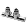 Sapho TWIN csatlakozó készlet radiátorhoz, középső bekötés, 50mm, jobbos, króm (CP401)