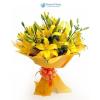 Sárga liliom virágcsokor