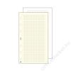 SATURNUS Kalendárium betét, jegyzetlap, S, kockás, SATURNUS, fehér (NKS327F)