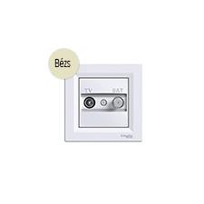 Schneider Electric Asfora - TV-SAT aljzat, átmenő, 8 dB, komplett, bézs hűtés, fűtés szerelvény