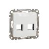 Schneider Electric SDD111442C Dupla adapter RDM betétekhez, fehér burkolattal, keret nélkül (Sedna Design / Elements)