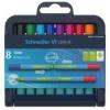 """SCHNEIDER Golyóstoll készlet, 0,7 mm,  """"Link-it"""", összeilleszthető, 8 különböző szín"""