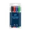 SCHNEIDER Tábla- és flipchart marker készlet, 1-4 mm, vágot