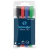 """SCHNEIDER Tábla- és flipchart marker készlet, 1-4 mm, vágott,""""Maxx 293"""", 4 különböző szín"""