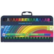 """SCHNEIDER Tűfilc készlet, 0,4 mm,  """"Link-it"""", összeilleszthető, 16 különböző szín filctoll, marker"""