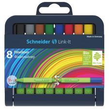 """SCHNEIDER Tűfilc készlet, 0,4 mm,  """"Link-it"""", összeilleszthető, 8 különböző szín filctoll, marker"""