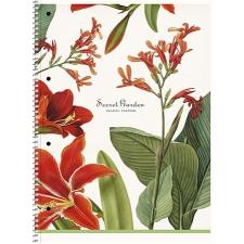 """SCHOOLBOY Spirálfüzet,  A4+, kockás, 80 lap, SCHOOLBOY """"Secret Garden"""", vegyes füzet"""