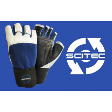 Scitec Nutrition Kesztyű Power Blue with wrist wrap férfi sötétkék S Scitec Nutrition