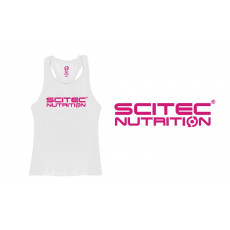Scitec Nutrition SCITEC RACERBACK WHITE GIRL TANK TOP