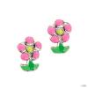 scout Gyerek fülbevaló ékszer Ohrstecher ezüst Blume rózsaszín Mädchen 262111100