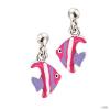 scout Gyerek fülbevaló ékszer Ohrstecher ezüst Fische rózsaszín lila Mädchen 262117100