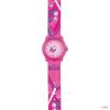 scout Gyerek óra Lernuhr klasszikus - rózsaszín Mädchen 280309001