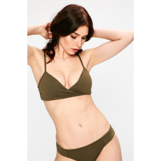 Seafolly - Bikini felső Wrap Front Bralette - oliva színű