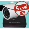 Sec-CAM 2MP-AHD-SET-05CF, 2MP felbontású 5 kamerás komplett AHD megfigyelő szett