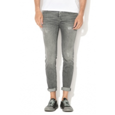 Selected Homme , Skinny fit szakadt farmernadrág, Szürke, W32-L34 (16061484-GREY-DENIM-W32-L34)